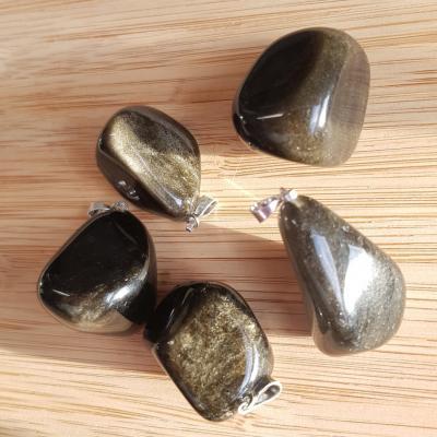 obsidienne dorée pendentif