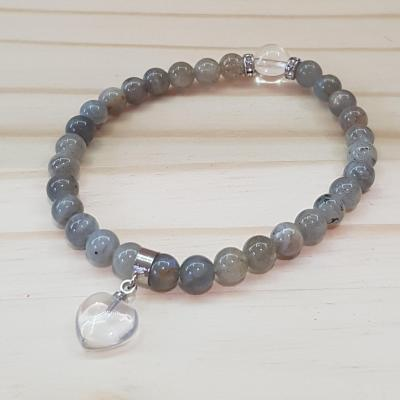 Bracelet 6mm labra coeur