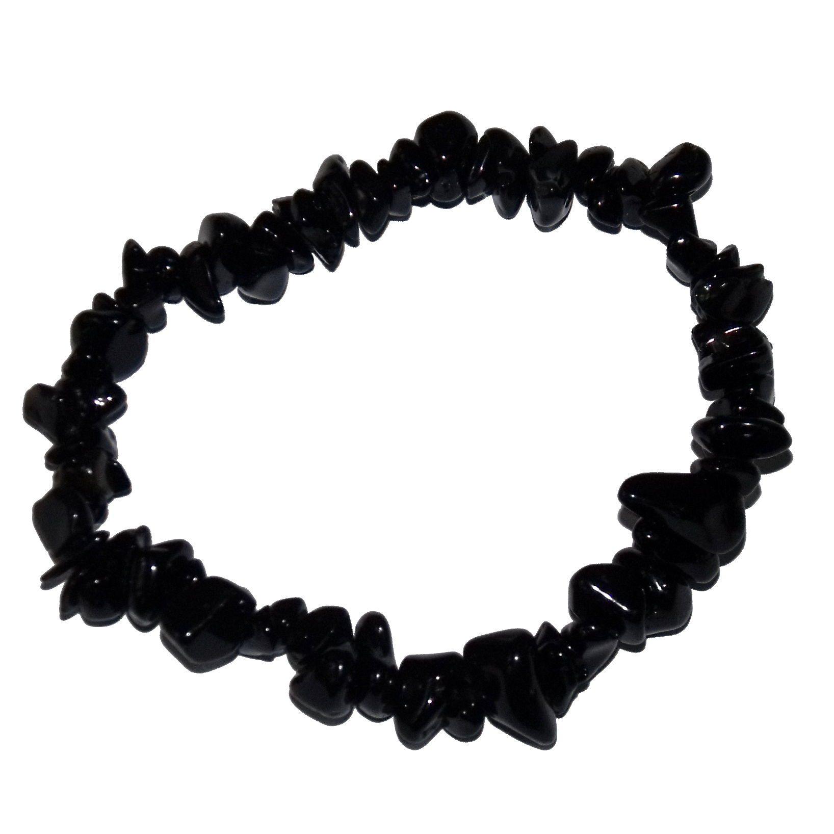 Bracelet baroque obsidienne noire