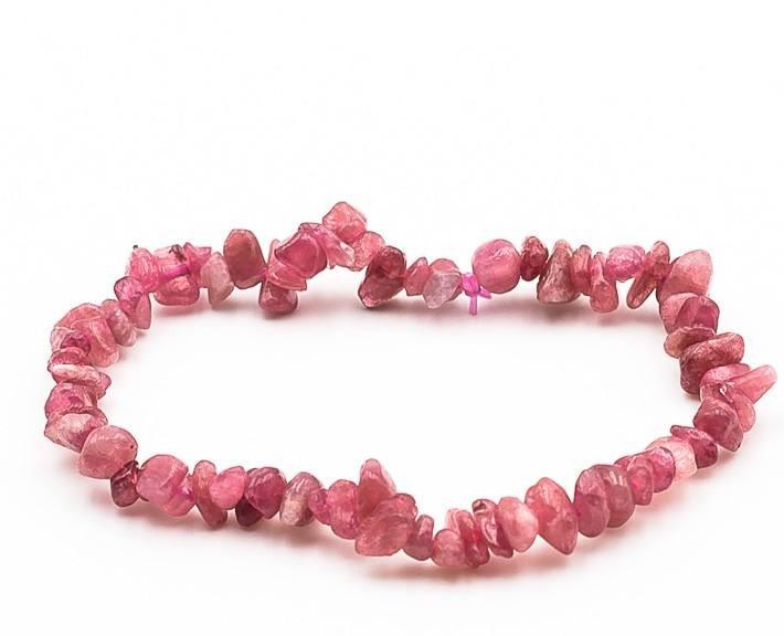 Bracelet baroque tourmaline rose 1