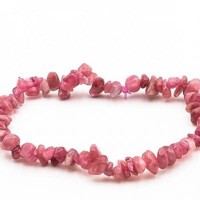 Bracelet baroque tourmaline rose 1