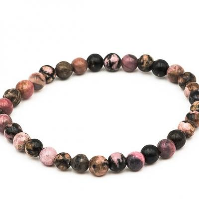 Bracelet boule 06mm rhodonite new 1