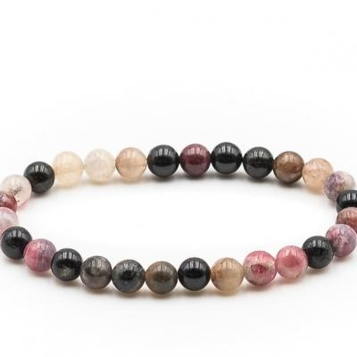 Bracelet boule 06mm tourmaline multicolore 1