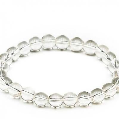 Bracelet boule 08mm cristal de roche new 1