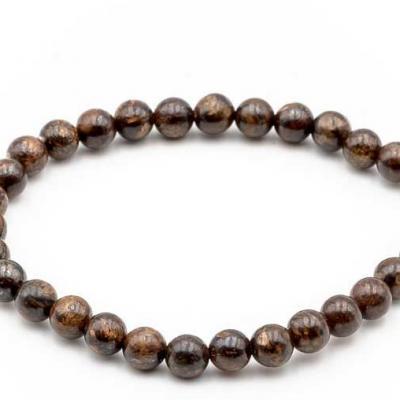 Bracelet boule 6mm bronzite 1 1