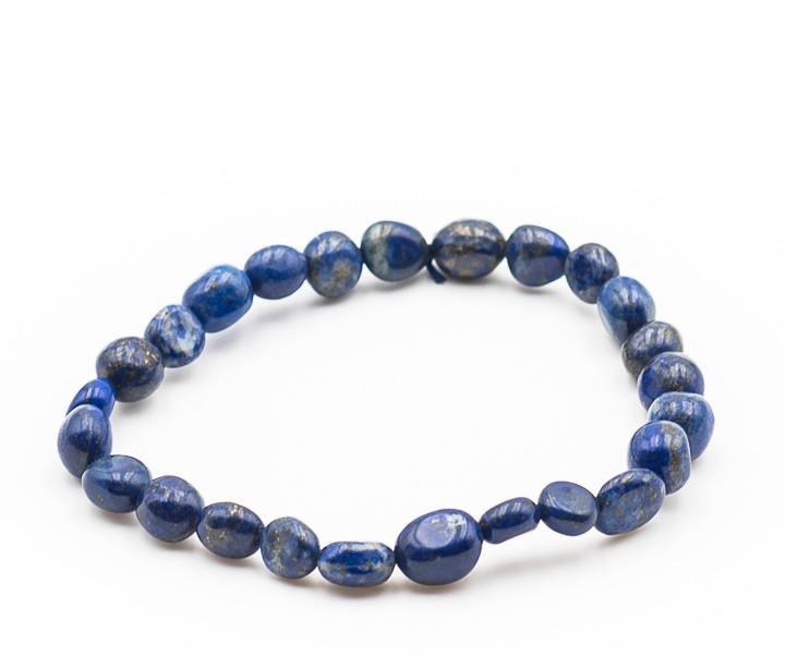 Bracelet pierre roulee lapis lazuli 1