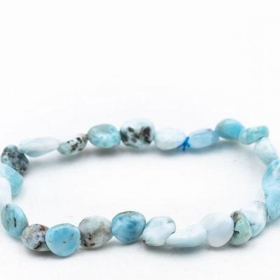 Bracelet pierre roulee larimar 1