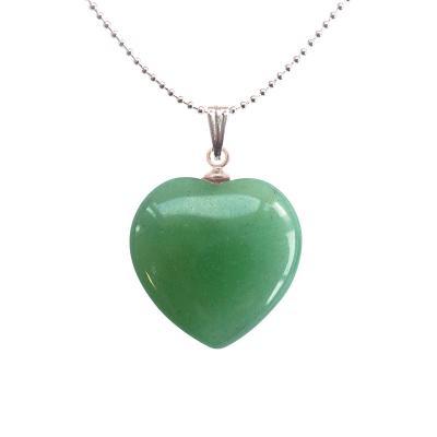 Coeur pendentifs mineraux aventurine