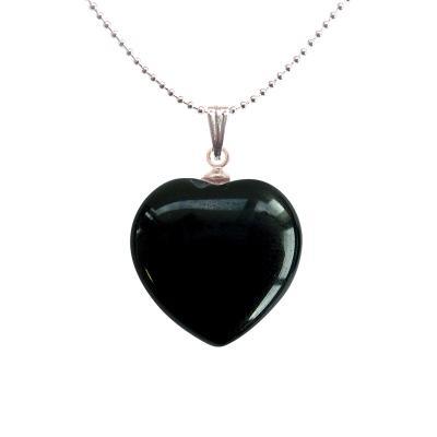 Coeur pendentifs mineraux onyx