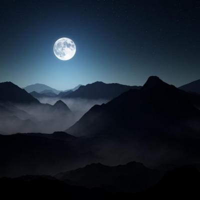 Full moon dark mountains 2016 high quality hd wallpaper 1366x768