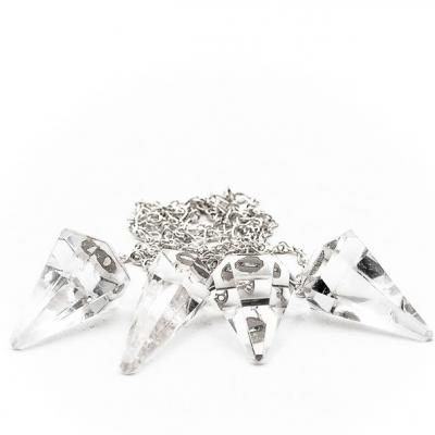 Pendule facete cristal de roche